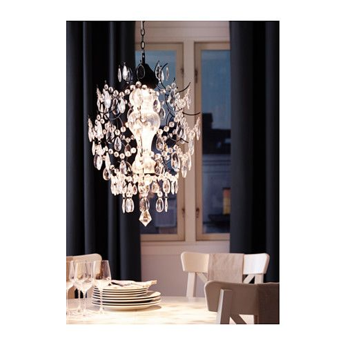 ÖRTOFTA Chandelier - -, - - IKEA. Because what person with an ounce of girly-girl in them doesn't want a pretty chandelier hanging in their home?