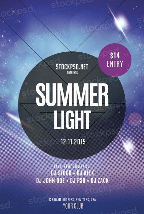Summer Light Party Free PSD Flyer Template - http://freepsdflyer.com/summer-light-party-free-psd-flyer-template/ Enjoy downloading the Summer Light Party Free PSD Flyer Template created by Stockpsd!  #Club, #Dj, #EDM, #Electro, #HipHop, #Night, #Nightclub, #Party