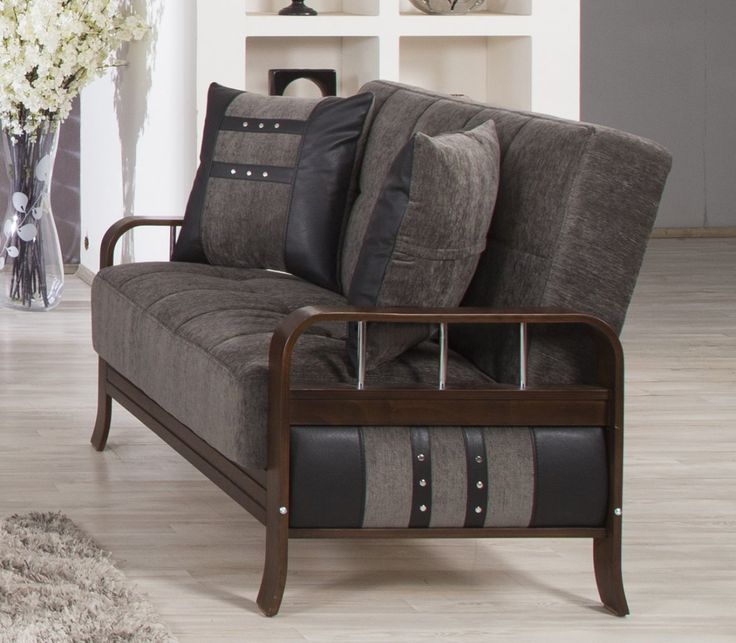 Studio NYC Loveseat In Floked Gray By Casamode