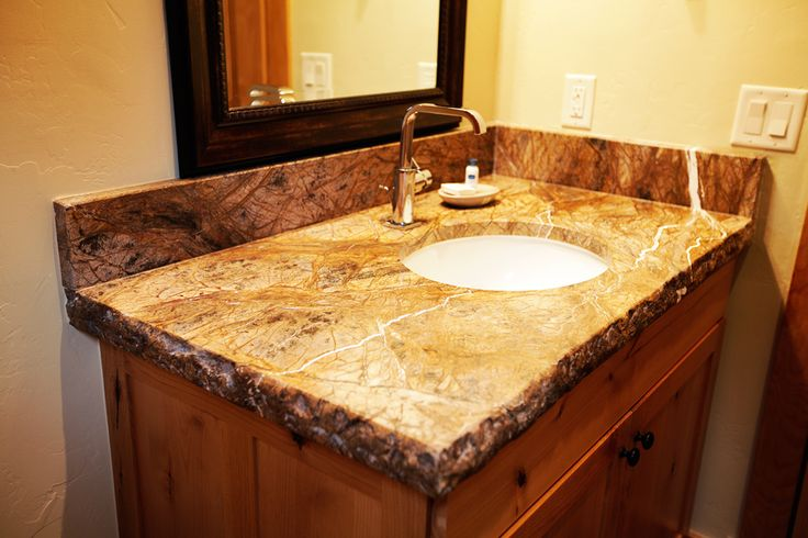 Granite Counter Tops With Broken Rough Edge House Ideas