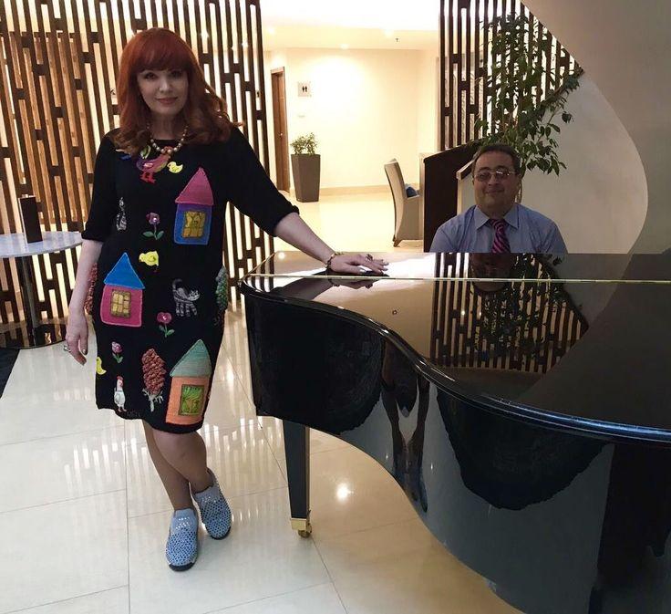 """Купить Летнее платье """"ЛЕТО 2017-2"""" короткое, бамбук - рисунок, Анна Лесникова"""