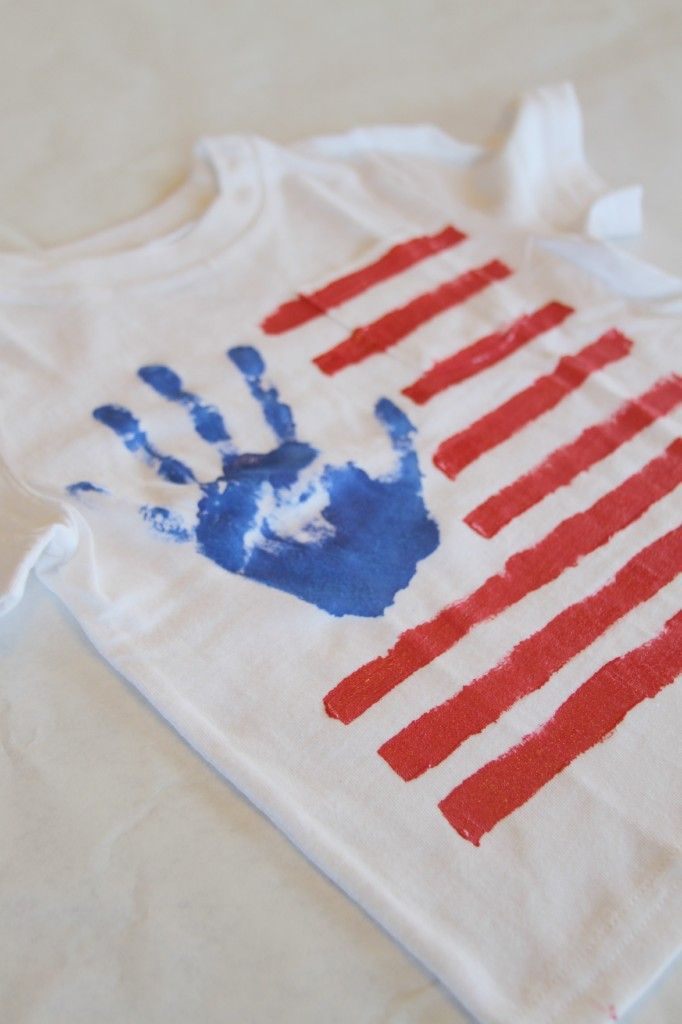 DIY July 4th Kid's Shirt. This wouldn't been a good idea...maybe next year!