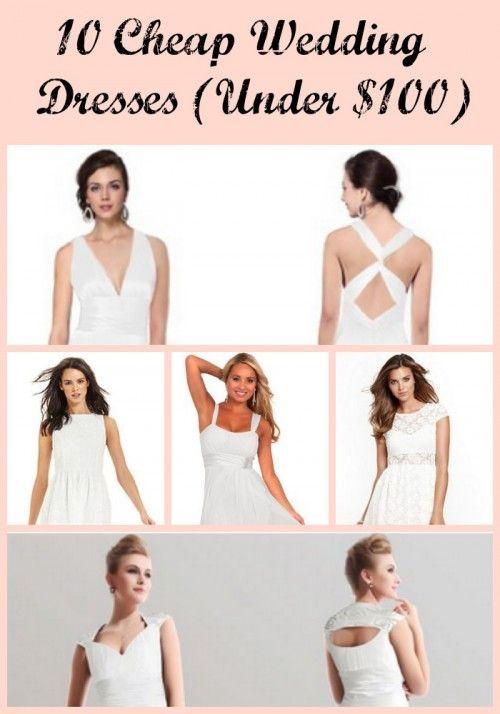 10 Cheap Wedding Dresses (Under $100) - Sincerely, Mindy