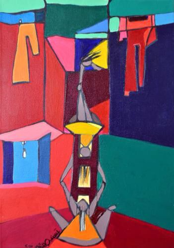 """From the collection of my first solo art exhibition """"Dilemma"""". Acrylic on canvas"""