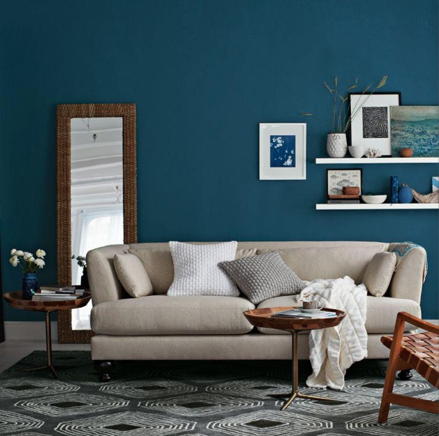 Love that blue wall