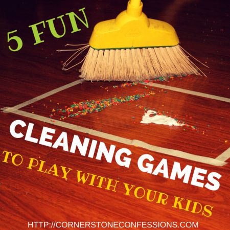 5 Fun Cleaning Games to Play With Your Kids--Making chores fun!