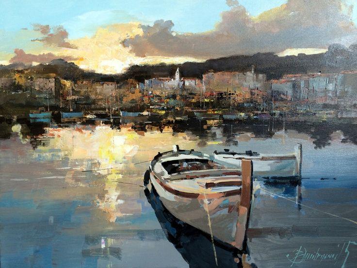 Branko Dimitrijevic, Croatian Sunset,  Oil on canvas, 45x65cm, £680