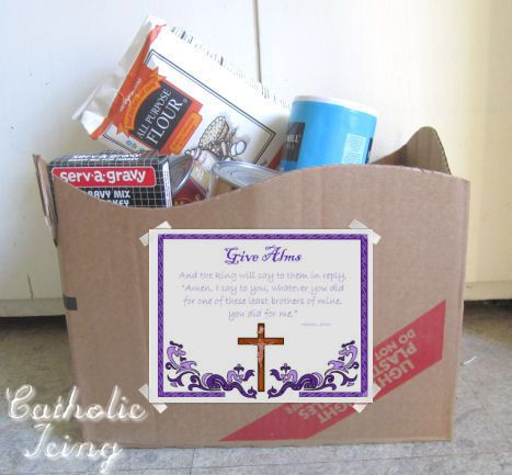 Get kids involved with Almsgiving during Lent. (Free Printables!!!)