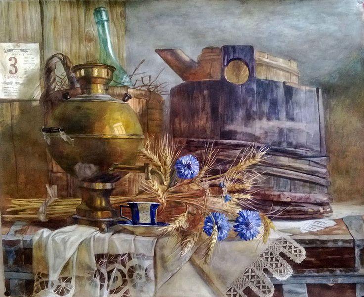 Труханов Сергей. Натюрморт с самоваром