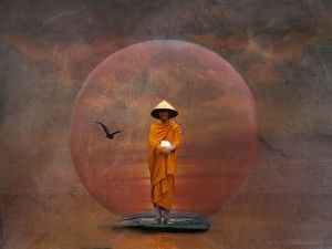 """zen meditation: """"He who wherever he goes is attached to no person and to no place by ties of flesh; who accepts good and evil alike, neither welcoming the one nor shrinking from the other — take it that such a one has attained Perfection....Bhagavad-Gita."""""""