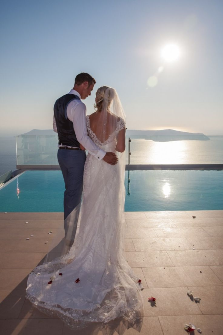 If you want to experience your #wedding #ceremony on most #beautiful place on earth right before the spectacular #sunset emerges, you should definitly get married on #Santorini. Photo gallery – Weddings | Andreas Markovic Videography