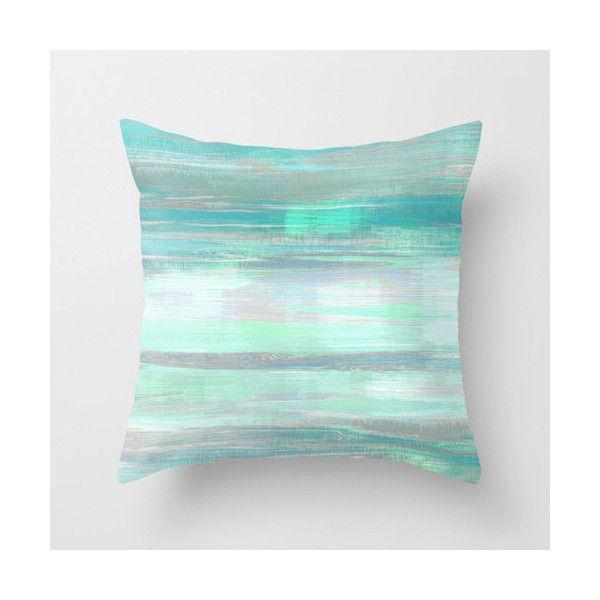 throw pillow cover teal mint aqua green grey modern home decor living