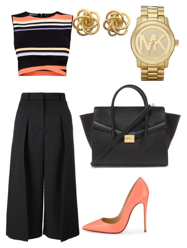 """""""My grown up style by Mimi"""" by mokatsanemk on Polyvore featuring Christian Louboutin, Erdem, Ted Baker, Forever 21, Michael Kors, women's clothing, women, female, woman and misses"""
