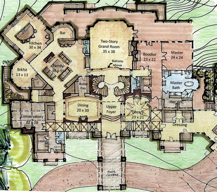 165 best courtyard home images on pinterest arquitetura for Castle house plans with courtyard