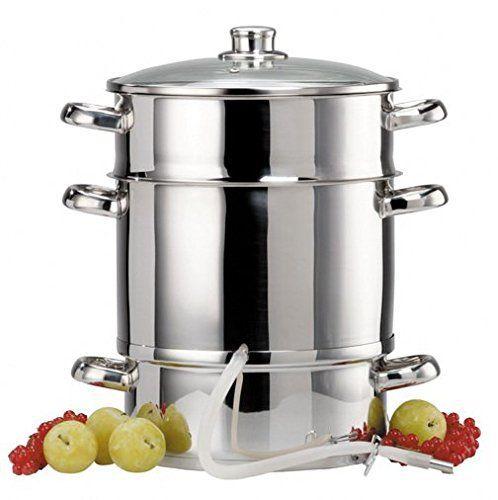 Duhalle 5421 Extracteur de Jus Non Electrique: toux feux y compris induction extraction facile du jus des fruits et des légumes par vapeur…