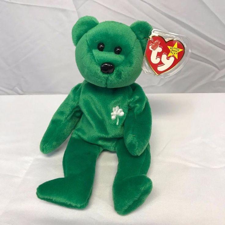 Ty Beanie Baby Original  Erin  Retired, First Edition, Rare, The Irish Bear #Ty