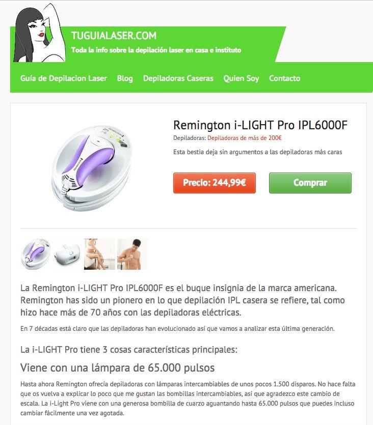 Hasta la fecha la mejor depiladora que haya pasado por mis manos: Remington i-Light Pro @TuGuiaLaser http://tuguialaser.com/products/opiniones-remington-i-light-pro-ipl6000f/ No te pierdas la prueba completa en tuguialaser.com #Depilacion #IPL #Fotodepilacion #LuzPulsada #Casera #Personal #Domestica #Diodo #Laser #Depiladora #Opiniones #Depilacion #IPL