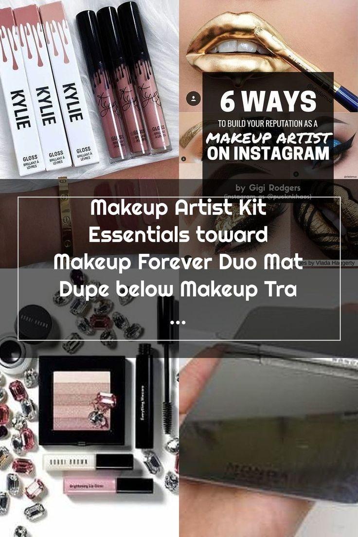Makeup Artist Kit Essentials toward Makeup Forever Duo Mat