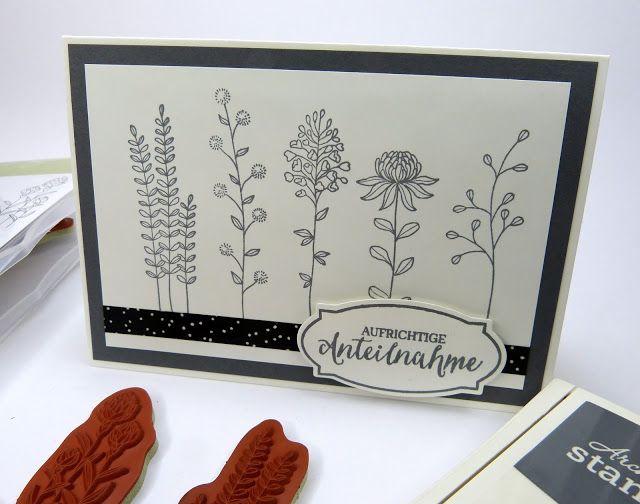 Stempelitis.de, Stampin up, Flowering Fields, Trauerkarte