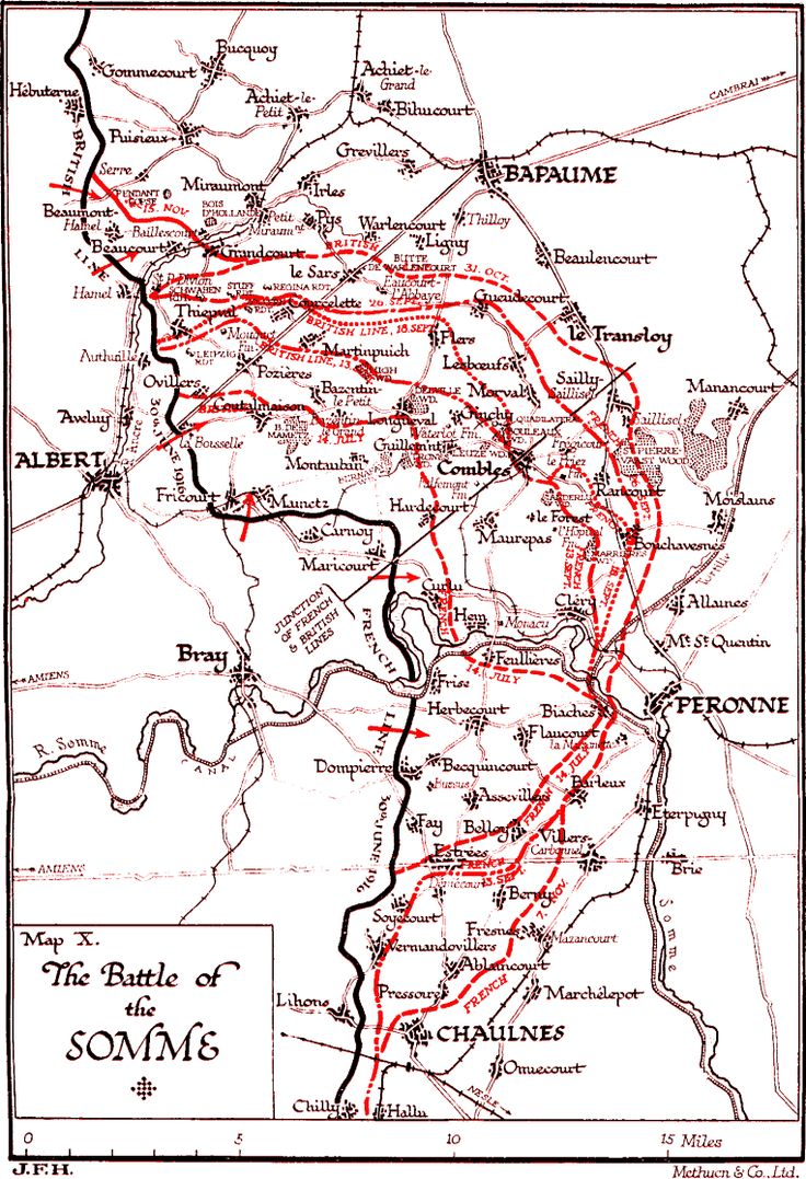 This is a map of the Battle of the Somme, which was one of the major battles of WW1