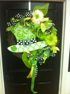 Saint Patricks Day Whimsical Wreath