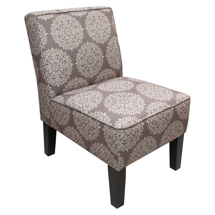Armless slipper chair browngray medallion target living room