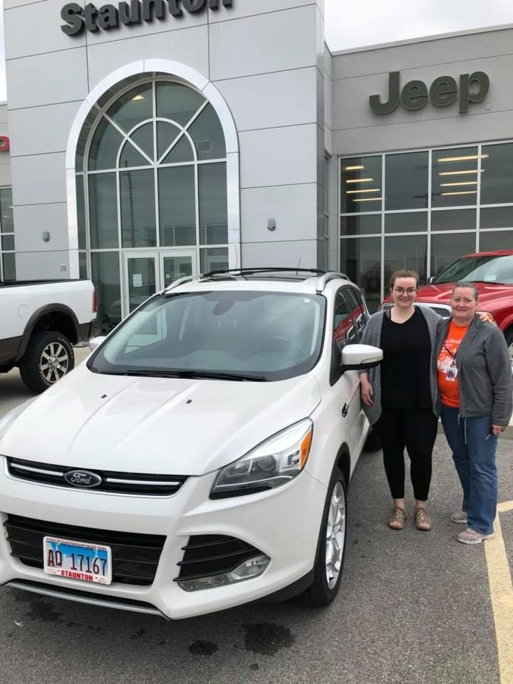 thank you katlyn and jennifer from cloide and everyone here at staunton chrysler enjoy your ford escape we love to see you chrysler dodge jeep chrysler jeep pinterest