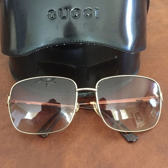 HPHPGucci sunglasses HPHPAuthentic brown Gucci sunglasses with Gucci logo on the sides. Priced to sell. Comes with carrying case. Will not trade... Serious inquiries only!!! NO PAYPAL OR OTHER SITES... STRICTLY ONLY USING POSHMARK. 10%off if sold during this party Gucci Accessories Sunglasses