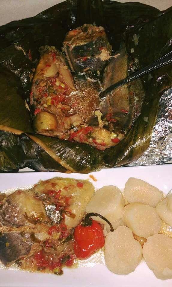 Liboke ya mbisi Congolese food