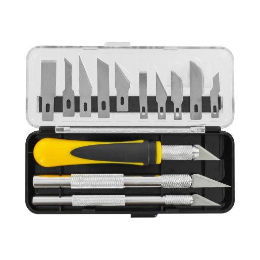 Model Craft - Precision Craft Knife Set (16pcs) | Maplin