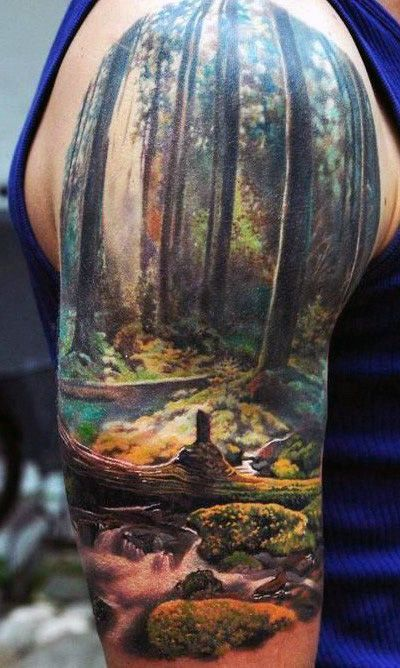 nature sleeve tattoos