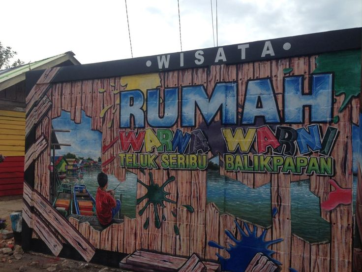 Kampung Warna-Warni Teluk Seribu Wisata Baru di Kalimantan Timur - Kalimantan Timur
