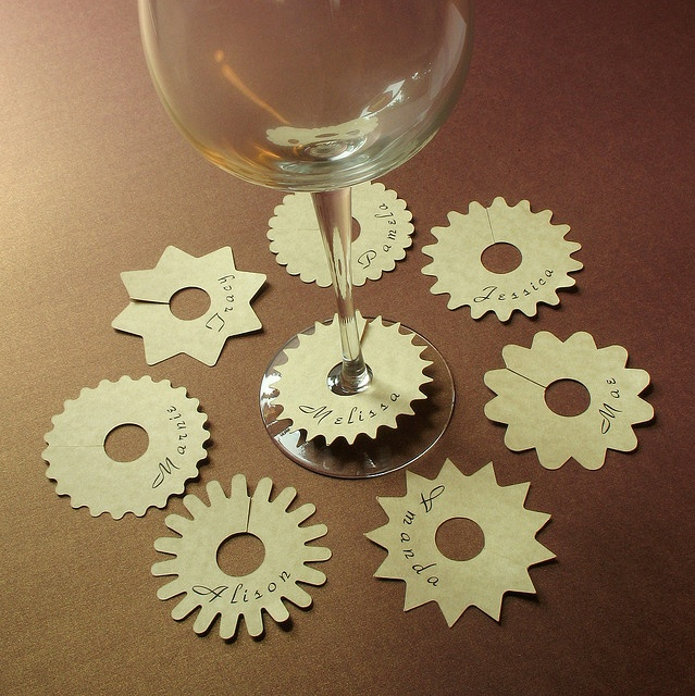 Make labels for everyone's drinking glasses