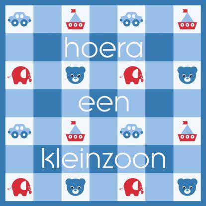 Felicitatiekaart Kleinzoon, gemaakt door Redactie Kaartje2go