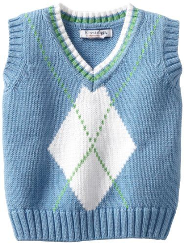 Kitestrings Baby-Boys Infant Argyle... - http://www.windowshoppingsite.info/kitestrings-baby-boys-infant-argyle/ - Infant boys argyle sweater vest, exploded argyle knit pattern on front100 percent cotton