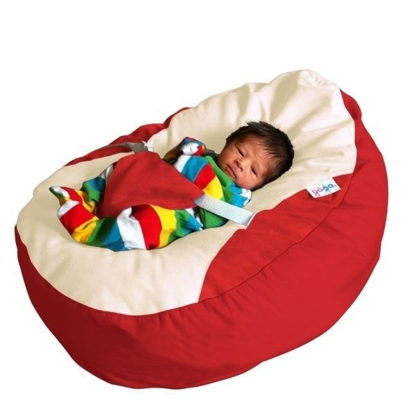 Buy GaGa Red Cuddlesoft Pre Filled Baby Bean Bag With Adjustable Safety Harness From Our Pouffes Bags Cubes Range At Tesco Direct