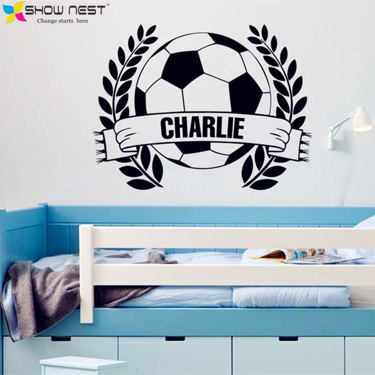 American Football Nursery Helmets Wall Decor Kids Personalised name Home Playroom Decal Vinyl Wall Art Sticker Children Bedroom