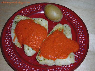 Albahaca y Canela: hemc10: Gallo con salsa de pimientos de piquillo al jengibre