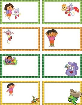 Dora the Explorer Gift Tags, Dora and Diego, Gift Tags - Free Printable Ideas from Family Shoppingbag.com
