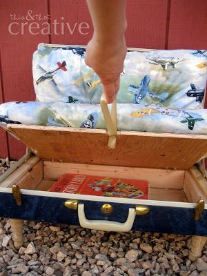 This and That Creative Blog: Recycled Suitcase Chair