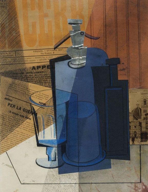 Il Sifone o Lacerba (El Sifón)  AUTOR: Pettoruti, Emilio  Nacionalidad Argentina  (Argentina, La Plata, 1892 – Francia, París, 1971)