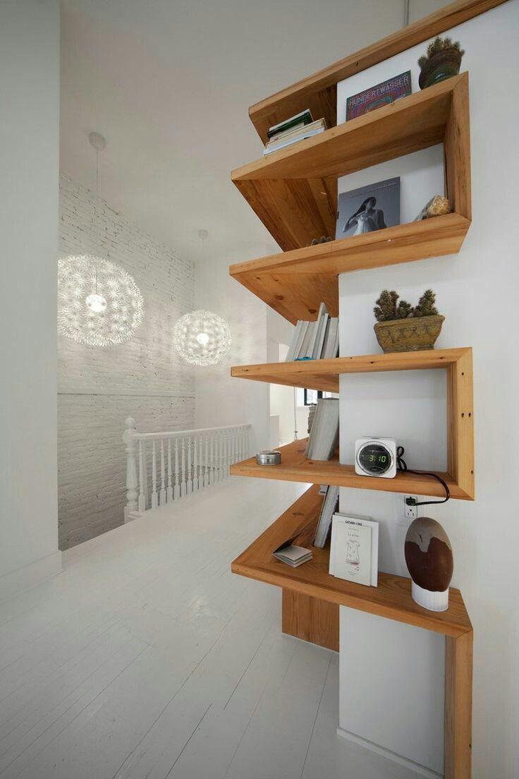 Beautiful wood shelves that wrap around a corner dreamy interiors pinterest wood shelf and - Beautiful photoshelves ...