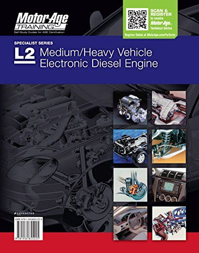 ASE Test Prep L2 - Medium/heavy Vehicle Electronic Diesel Engine Diagnostic Specialist Study Book - 2016 (Motor Age Training):   The Motor Age/b test prep study materials for the  ASE certification L2 test prep/b contains tips on preparing for the ASE L2 test which is engineered to measure a technician's knowledge of the skills needed to diagnose sophisticated engine performance problems on computer-controlled diesel engines. Included in this edition of ASE certification L2 Medium/Heav...