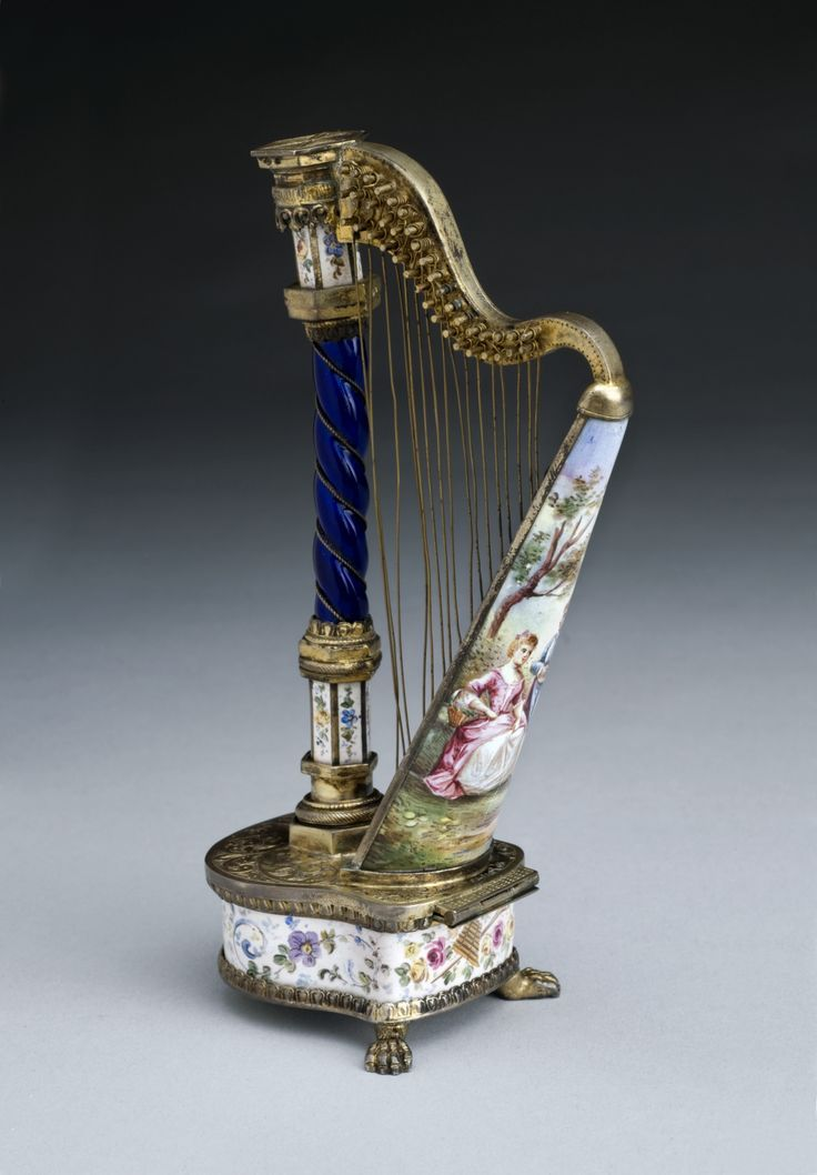 Original harp perfume bottle - just beautiful!