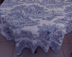Blue And White Toile Tablecloth