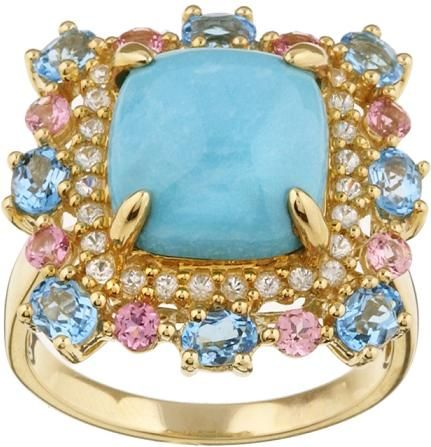 turquoise gold ring: Bling, Fashion, Gold Rings, Turquoise Jewelry, Jewels, Turquoise Rings, Levian, Aqua, Turquoise Gold