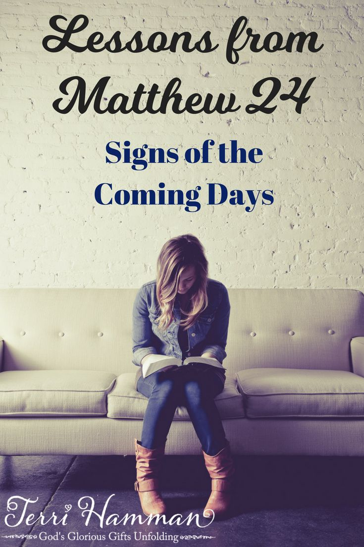 Signs of the Coming Days. Remember He was sold out for us first! For many false Christs will come, spreading false doctrine.