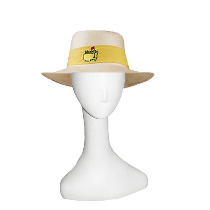 Masters Straw Hat, Yellow Hatband, Straw Sun Hat, Augusta Georgia