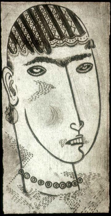 Jankel Adler (1895-1949) c.1925 Head of a Girl ( Hunterian Museum and Art Gallery, University of Glasgow, Scotland)