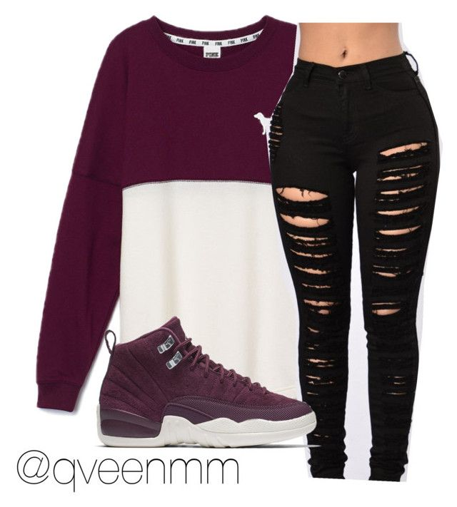"""Untitled #483"" by qveenmm on Polyvore featuring Victoria's Secret PINK and NIKE"